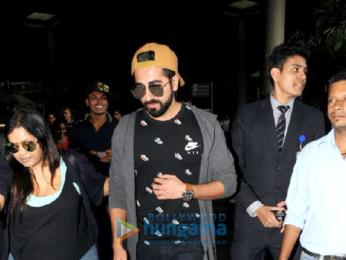 Ayushmann Khurrana snapped at the airport