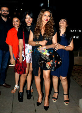 Bipasha Basu snapped with close friends post dinner at Yauatcha