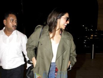 Deepika Padukone snapped leaving for Bangalore