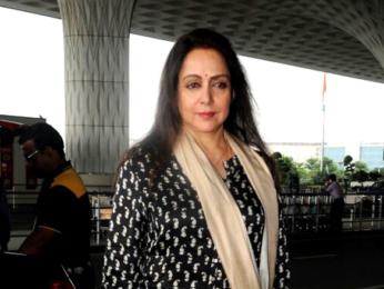 Emraan Hashmi and Hema Malini snapped at the airport