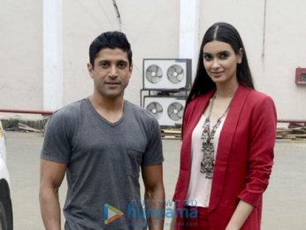 Farhan Akhtar and Diana Penty promote their film 'Lucknow Central'