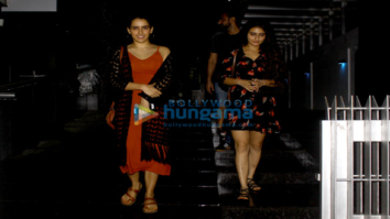 Fatima Sana Shaikh and Sanya Malhotra snapped post dinner in Bandra