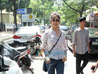 Genelia D'Souza snapped at The Kitchen Garden
