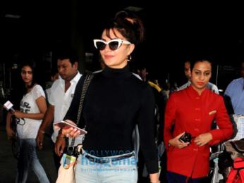Jacqueline Fernandez arrives from her home town Colombo