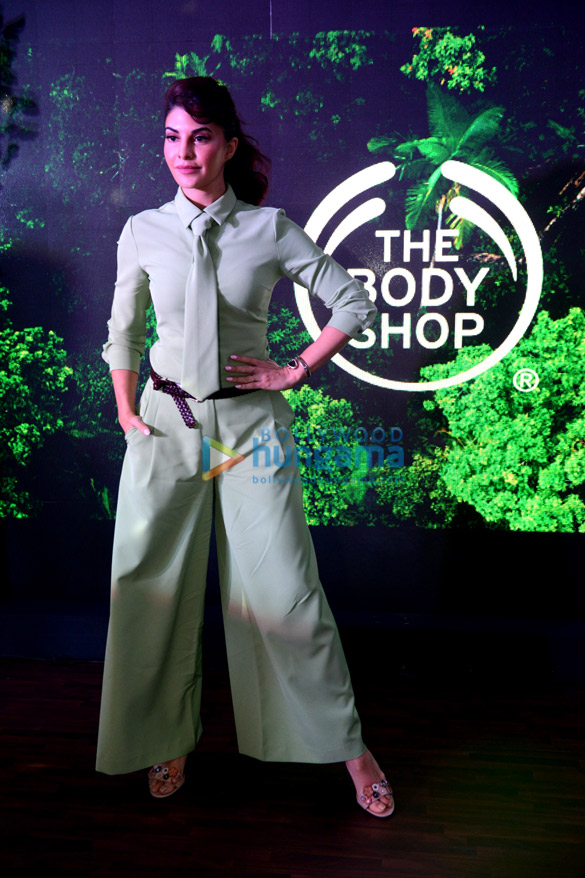 Jacqueline Fernandez snapped promoting the Body Shop in Delhi