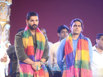 John Abraham snapped attending a Dussehra celebration in Delhi