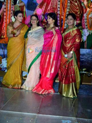 Kajol, Tanishaa Mukerji, Tanuja at North Bombay Sarbojanin Durga Puja