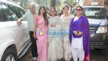 Kajol and family snapped at Durga pandal in Mumbai