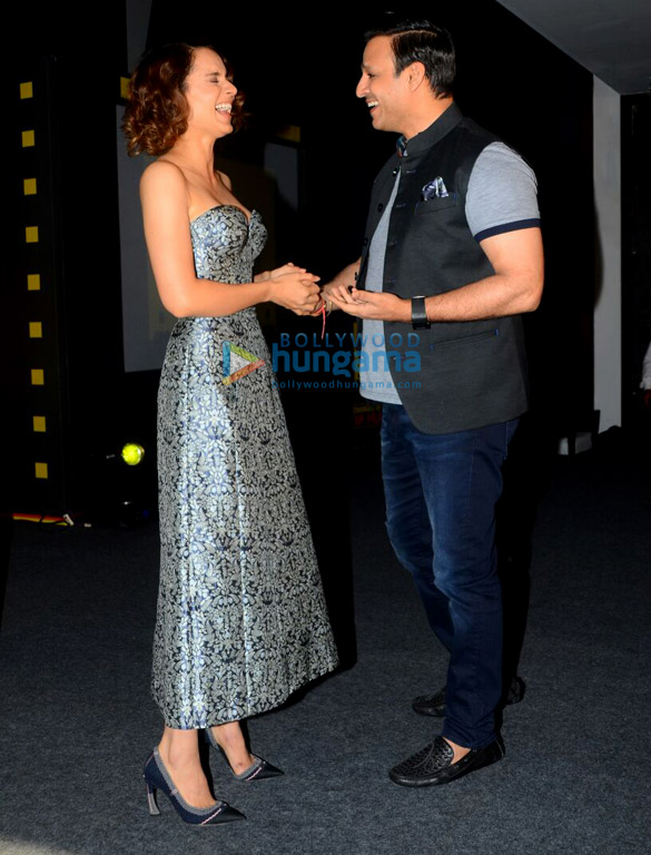 Kangana Ranaut and Vivek Oberoi at Jagran Film Festival