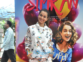 Kangna Ranaut attends the song launch of her film 'Simran' along with her brother and sister
