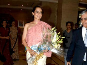 Kangna Ranaut snapped at a hotel in Mumbai suburbs