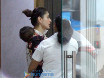 Kareena Kapoor Khan and Tusshar Kapoor snapped with their kids in Bandra