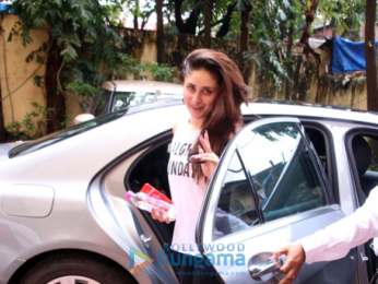 Kareena Kapoor Khan snapped in a casual look outside her gym in Bandra