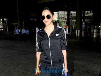 Kiara Advani snapped arriving from Hyderabad