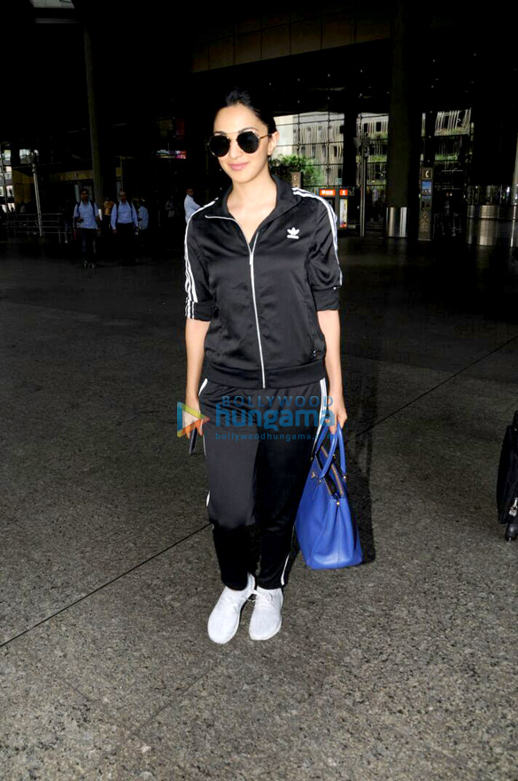 Kiara Advani snapped arriving from Hyderabad