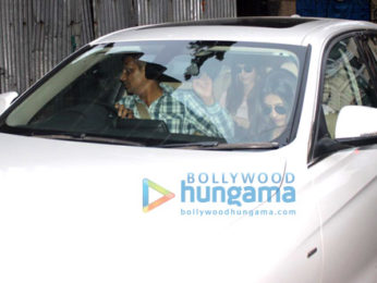 Kriti Sanon snapped along with her sister Nupur Sanon at a clinic