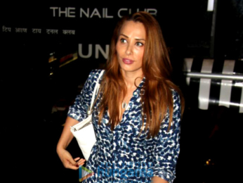Iulia Vantur snapped post her nail salon session