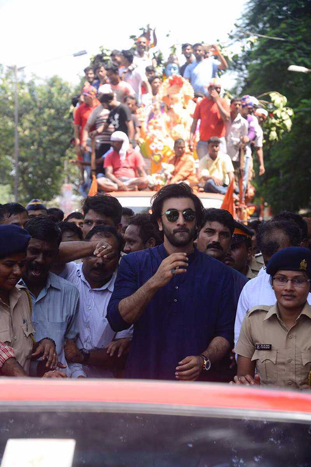 Image result for Ranbir Kapoor visited RK Studio for Ganpati visarjan. See photos