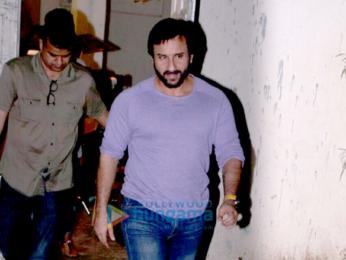 Saif Ali Khan snapped at Mehboob Studio