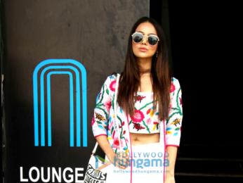 Sana Khan and Aditi Rao Hydari snapped at a lounge