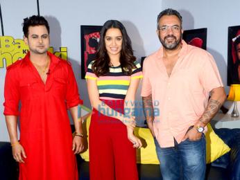Sharadha Kapoor and Siddhanth Kapoor snapped at a TV show shoot