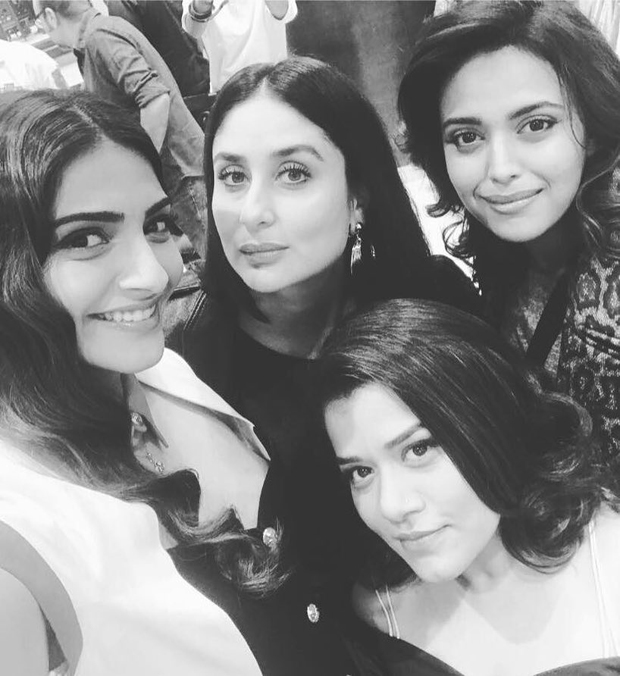 Sonam Kapoor and Kareena Kapoor Khan bond on the first day of shooting for Veere Di Wedding