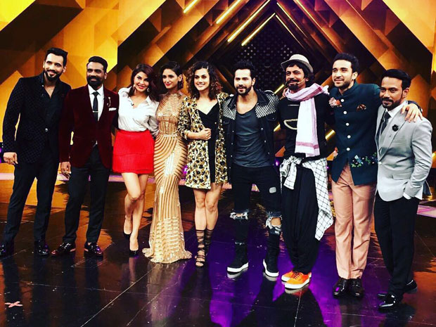 Varun Dhawan, Taapsee Pannu and Jacqueline Fernandez entertain the audience at Dance + finale-2