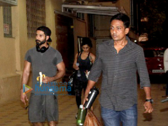 Shahid Kapoor snapped post his gym session