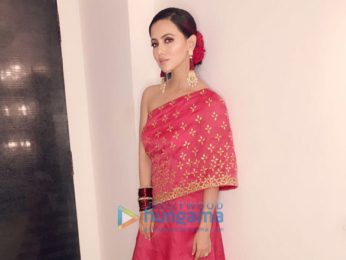 Sana Khan snapped in festive look