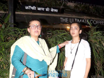 Sarika and Akshara snapped outside Coffee by Di Bella