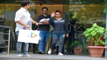 Esha Deol & Bharat Takhtani snapped with their newborn baby girl