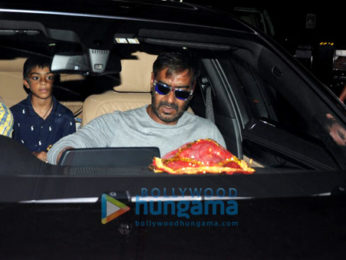 Ajay Devgn and his family arrive from Goa