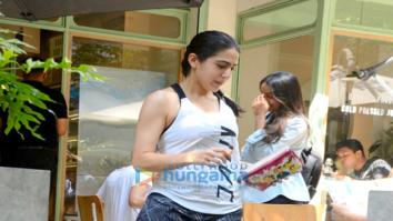 Sara Ali Khan spotted at Kitchen Garden, Bandra