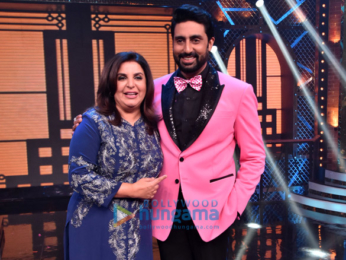 Abhishek Bachchan, Katrina Kaif and Boman Irani snapped on sets of Lip Sing Battle