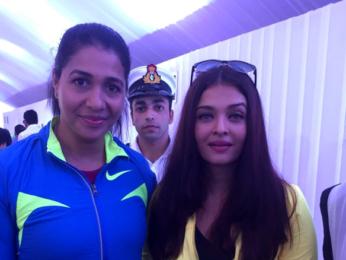 Aishwarya Rai Bachchan at 'Mumbai Customs Half Marathon'