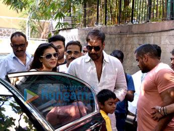 Ajay Devgan and Kajol watch 'Golmaal Again' with their kids