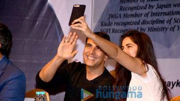 Akshay Kumar and Katrina Kaif snapped attending a martial arts event