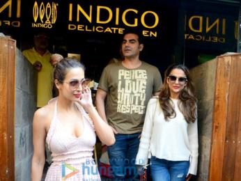 Arbaaz Khan, Malaika Arora and Amrita Arora spotted at Indigo