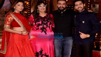 Armaan Malik and Kanika Kapoor snapped on the sets of the show 'Aunty Boli Lagao Boli'