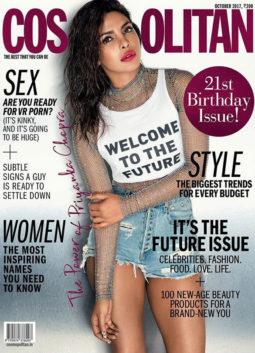 Priyanka Chopra On The Cover Of Cosmopolitan, Oct 2017