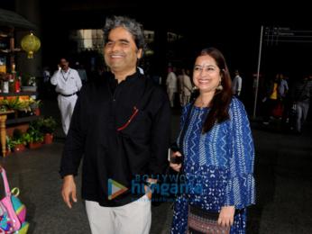 Vishal Bhardwaj and Rekha Bhardwaj snapped at the airport