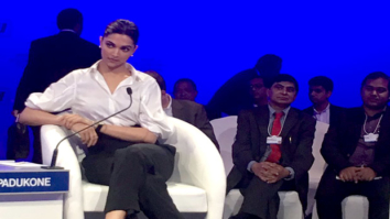 Deepika Padukone attends a session on mental health at World Economic Forum