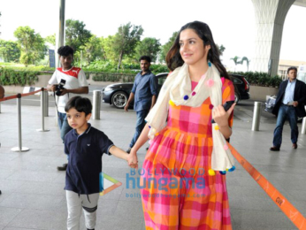 Divya Kumar Khosla and Mandira Bedi at the airport