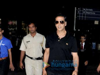 Akshay Kumar snapped at the airport