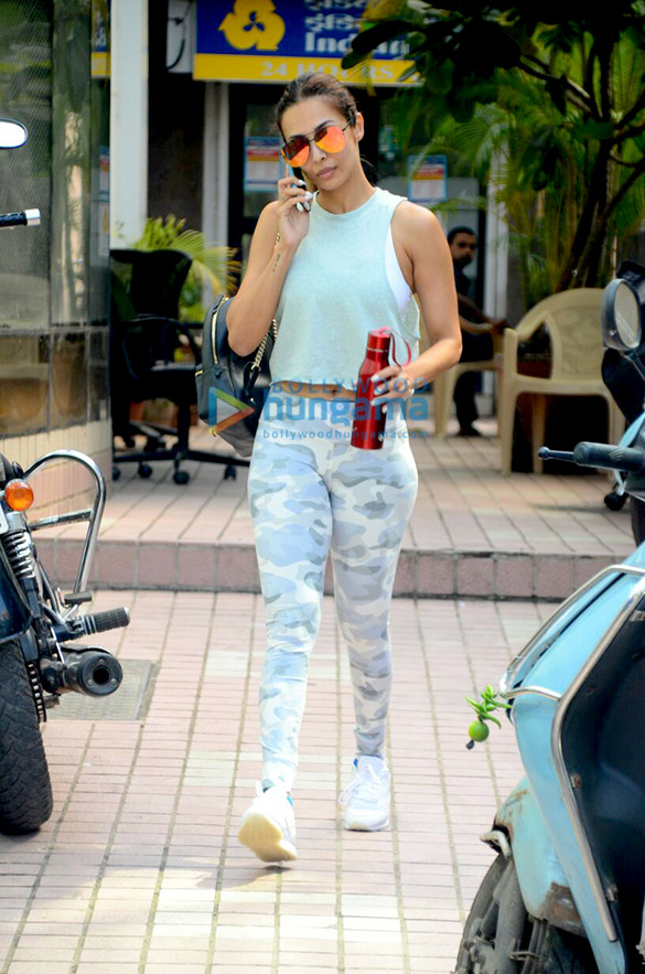 Malaika Arora Khan spotted after a gym session