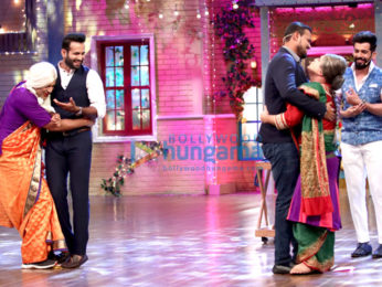 Irfan Pathan and Yusuf Pathan on the sets of 'The Drama Company'