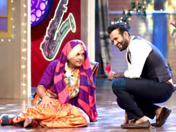 Irfan Pathan and Yusuf Pathan on the sets of 'The Drama