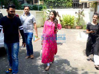 Jahnavi Kapoor snapped outside her dance class