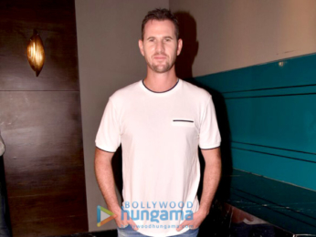 Lara Dutta and Shaun Tait snapped on sets of Miss Diva
