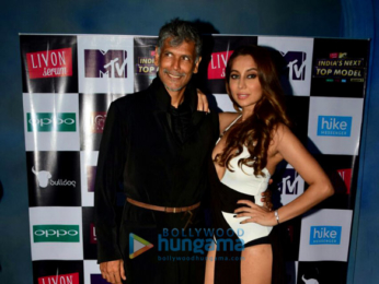 Malaika Arora at the shoot of India's Next Top Model